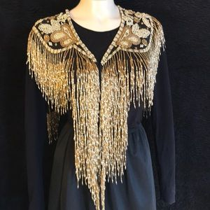 Stunning Vintage Gold Beaded Shrug Cape💕💕💕💕